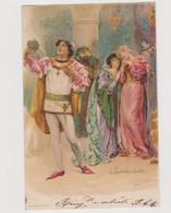 """Cartolina Illustrata John H. BACON, """"il Mercante Di Venezia"""", Della Serie Shakespeare N.1  - F.p.  - Fine '1800 - Illustratori & Fotografie"""