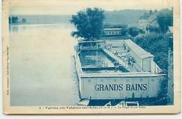 VALVINS Près VULAINES-SUR-SEINE - La Plage Et Les Bains - France