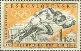 USED STAMPS Czechoslovakia - Olympic Games - Rome, Italy- 1960 - Czechoslovakia