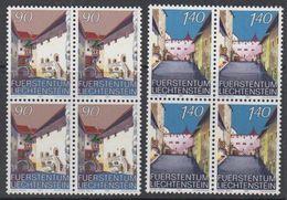 Liechtenstein 1987 Schloss Vaduz II 2v Bl Of 4 ** Mnh (42150F) - Liechtenstein