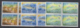 Liechtenstein 1987 Fische I 3v Bl Of 4 ** Mnh (42150G) - Liechtenstein