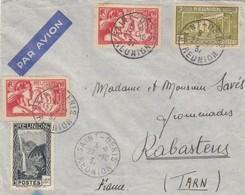 LETTRE. COVER. REUNION. 1937. PAR AVION. SAINT-DENIS POUR RABASTENS. EXPOSITION INTERNATIONALE PARIS - Reunion Island (1852-1975)