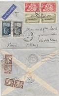 LETTRE. COVER. REUNION. 1937. PAR AVION. SAINT-DENIS POUR RABASTENS. 3,45Fr +  TAXE DUVAL 40c - Réunion (1852-1975)