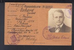 Rheinlandbesetzung Ausweis Frankenthal 1923 - Historical Documents