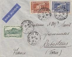 LETTRE. COVER. REUNION. 1937. 3,75 Fr.  SAINT-DENIS POUR RABASTENS - Reunion Island (1852-1975)