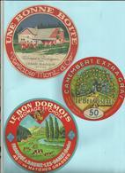 25 - Doubs - Baume Les Dames - Rochejean - Lantenne - Lot De 3  étiquettes Fromage - Déco Cuisine -Réf.33 - Publicités