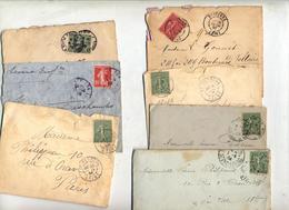 Lot 50  Lettre Cachet Flamme Sur Semeuse à Voir - Marcophilie (Lettres)
