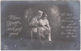 K.u.K. SOLDAT UND SCHÖNES MÄDCHEN , PATRIOTIKA 1916 - War 1914-18