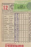 9317-TOTOCALCIO-SCHEDINA DEL CONCORSO 12 DEL 29-11-53 - Vieux Papiers