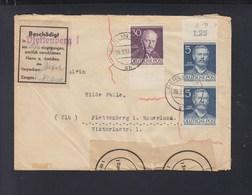 Berlin Brief 1953 Nach Plettenberg Beschädigt Eingegangen - Lettres & Documents