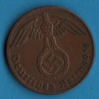 DEUTSCHES REICH LOT 2x 1 REICHSPFENNIG  1938 A+E KM# 89 (svastika) - [ 4] 1933-1945 : Third Reich