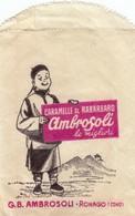 9318-BUSTINA PUBBLICITARIA CARAMELLE E RABARBARO AMBROSOLI - Reclame
