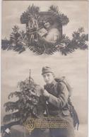 WEIHHNACHTSGRUSS - K.u.K. SOLDAT UND SCHÖNES MÄDCHEN , PATRIOTIKA 1917 - War 1914-18
