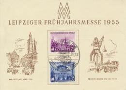 DDR 447/48 Auf Messesonderkarte Sonderstempel Leipzig - Briefe U. Dokumente