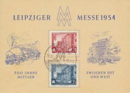 DDR 433/34 Auf Messesonderkarte Sonderstempel Leipzig - [6] République Démocratique