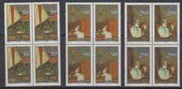Liechtenstein 1988 Paintings / Der Brief 3v Bl Of 4 ** Mnh (42151A) - Liechtenstein