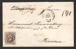 "1867 - 6 Kr. Auf Brief ""Charge"" Ab Augsburg Nach Lindau - Bavière"