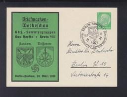Dt. Reich Privat-GSK KdF-Sammlergruppen Gau Berlin 1939 - Enteros Postales