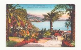 MONACO MONTE CARLO ECHAPPEE SUR LA MER VERS ROQUEBRUNE - Monte-Carlo