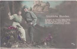GLUCKLICHE STUNDE - K.u.K. SOLDAT UND SCHÖNES MÄDCHEN , PATRIOTIKA 1916 - War 1914-18