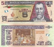 GUATEMALA       5 Quetzales       P-New        14.5.2014 (2019)       UNC    [CMC] - Guatemala