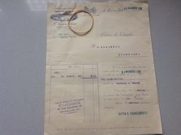 Facture San Piero A Ponti Manufacture De Tresses Et Chapeaux 1930 - Italia