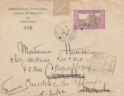 LETTRE. COVER. NOUVELLE CALEDONIE. 1936. N° 150 SEUL. CERCLE DES OFFICIERS ACTIVE ET RESERVE DE NOUMEA POUR LA FRANCE - Storia Postale