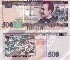 HONDURAS       500 Lempiras       P-New       12.6.2014       UNC - Honduras