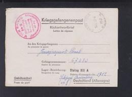 Dt. Reich Kriegsgefangenpost Frankreich France Chatenois Nach Stalag XIII A Sulzbach Rosenberg - Alemania