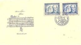 CECOSLOVACCHIA  - 4 6 1949 FDC SMETANA - FDC