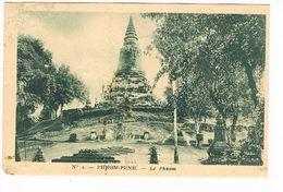 CPA.Cambodge. Phnom-Penh. Le Phnom.   (F.57) - Cambodge