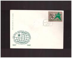 POLONIA - 25 7 1987  FDC ESPERANTO - Esperanto