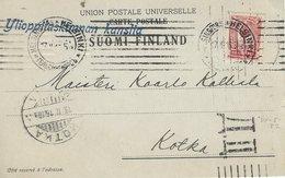 Finland - Postcard  Used 1916. Censor?    H-1515 - Finland