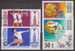 Sports Olympiques - Jeux De Moscou - MONGOLIE - Tir à L'arc, Gymnastique, Natation, Judo - 1980 - Mongolië