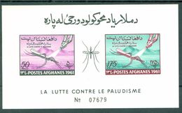 Afghanistan 518-519 Anti Malaria Imperforate Souvenir Sheet Block Mosquitoes MNH 1961 A04s - Afghanistan