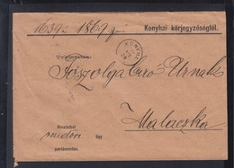 Hungary Slovakia Cover 1902 Konyha Kuchyňa - Briefe U. Dokumente