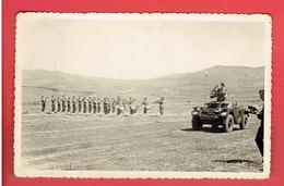 PHOTOGRAPHIE DEFILE MILITAIRE GUERRE D ALGERIE LA MUSIQUE - Guerre, Militaire