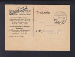 PK Sozialversicherungskasse Dresden Gebühr Bezahlt 1947 - Sowjetische Zone (SBZ)