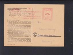 PK Sozialversicherungskasse Dresden Bezirksstelle Radeberg Freistempel 1946 - Sowjetische Zone (SBZ)