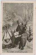 HERZLICHE WEIHNACHTSGRUSSE 1917 , K.u.K. SOLDAT UND SCHÖNES MÄDCHEN , PATRIOTIKA , K.u.K. FELDPOSTAMT 517 - War 1914-18