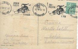 Finland - Christmas Card & Christmas Postmark. 1957.  S-4431 - Finland