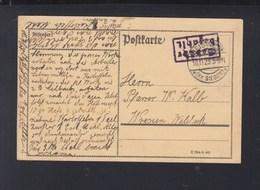 Dt. Reich PK Gebühr Bezahlt Geisweis Siegen 1923 - Briefe U. Dokumente