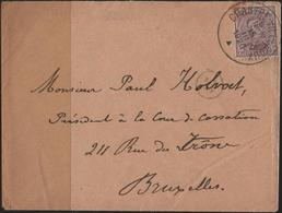 C3355-Belgium-Small Cover From Chastre-Villeroux To Brussels-1920 - Postmark Collection