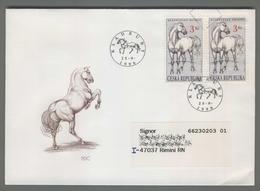 C4145 Ceska Republika FDC 1996 ANIMAL HORSE KLADRUBSKY BELOUS KLADRUBY 3 KC VG Cavallo - FDC