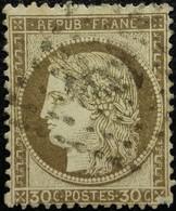 FRANCE Y&T N°56a Cérès 30c Brun Foncé. Oblitéré Losange PC N°1333 - 1871-1875 Ceres