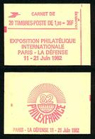 FRANCE - CARNET YT 2220-C7 - FERME - Gomme Brillante - Confectionneuse 8 - Carnets