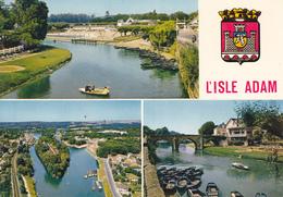 95  L ' ISLE ADAM / MULTIVUES AVEC BLASON - France