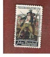STATI UNITI (U.S.A.) - SG 1346  - 1968 J. TRUMBULL: BUNKER HILL BATTLE - USED° - Stati Uniti