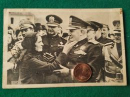 FASCISMO Mussolini Saluta Una Donna - Guerra 1939-45