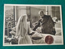 FASCISMO Mussolini Visita I Feriti - Guerra 1939-45